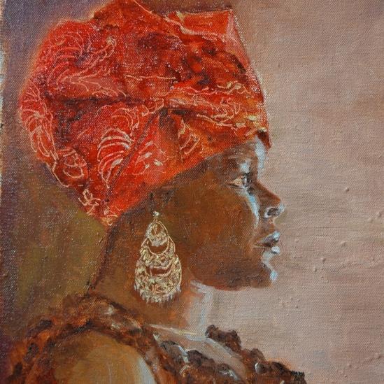 Girl in the Red Turban