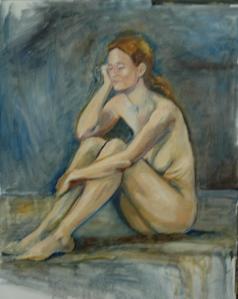 Seated Nude, WIP