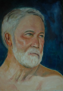 Fletch portrait on darker bkgrd