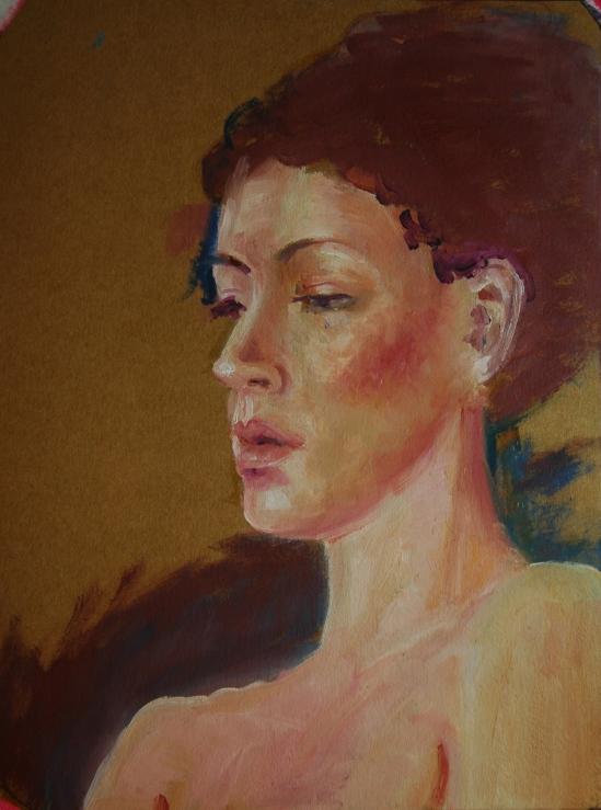 Half-finished portrait of Becky