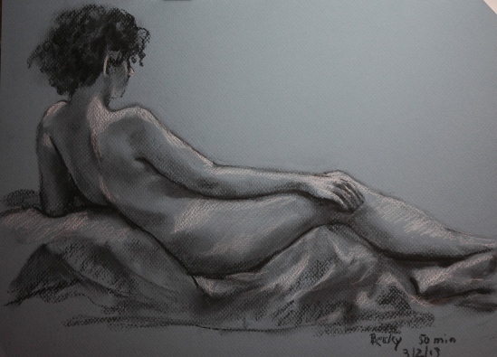 Becky, right side view--another imitation of Ingres' Grande Odalisque