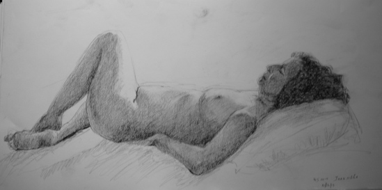 Reclining portrait