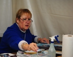 Sharon at work