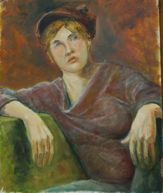 Girl in a Newsboy Cap