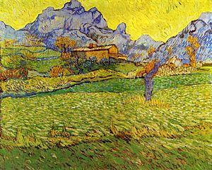 A Meadow in the Mountains Le  Mas de Saint-Paul 1889Paul (1889), by Van Gogh