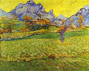 A Meadow in the Mountains Le  Mas de Saint-Paul 1889Paul (1889), by Van Gogh