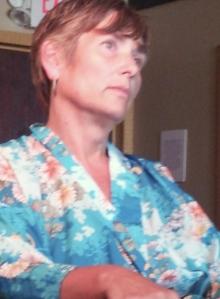 Nancy in the blue kimono