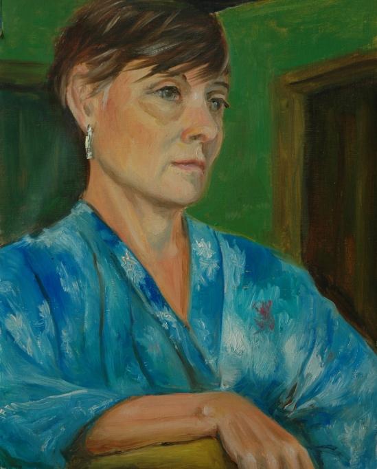 Nancy wearing a kimono