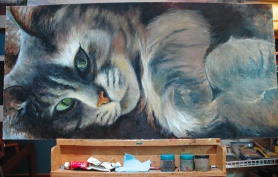 Gracie Portrait, WIP