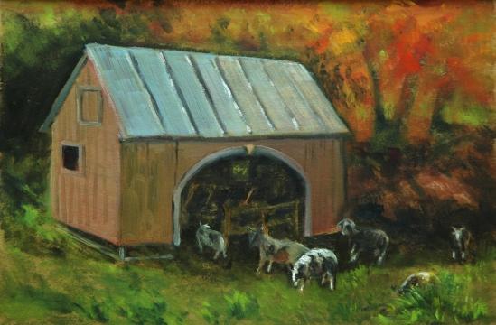 Sheep at Scotland by the Yard
