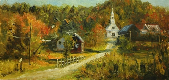 Waits River, the painting