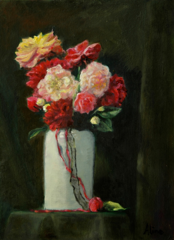Floral Painting No. 2--Roses