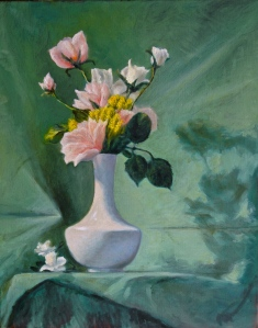 Floral Painting No. 3--Green
