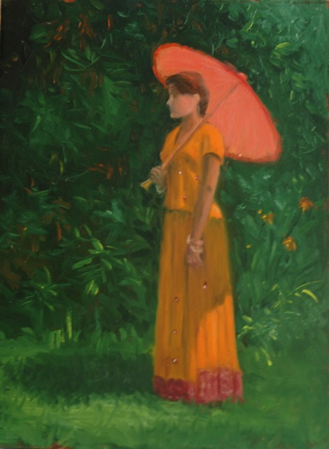 Figure in Orange