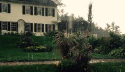 St. Gaudens home in the rain
