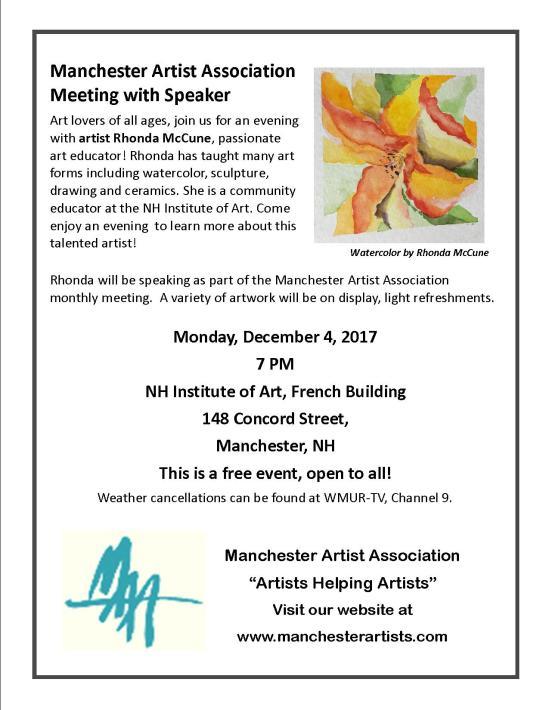 Rhonda McCune Poster December 2017